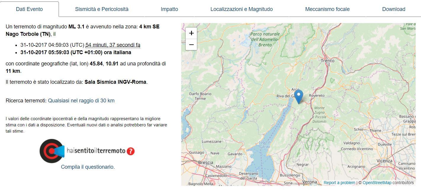 terremoto trento 1