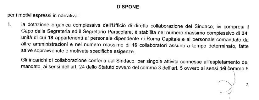 virginia raggi nominati espresso ordinanza 84 12 giugno - 2