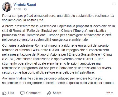 virginia raggi patto dei sindaci adesione bufala - 1