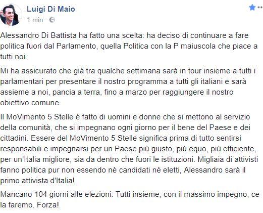 Di Battista: