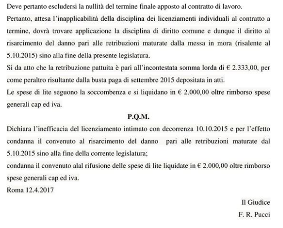 andraghetti bernini licenziamento m5s pignoramento stipendio - 4