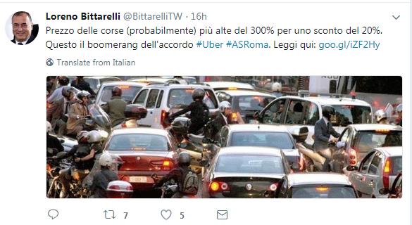 as roma uber partnership accordo tassisti proteste - 8