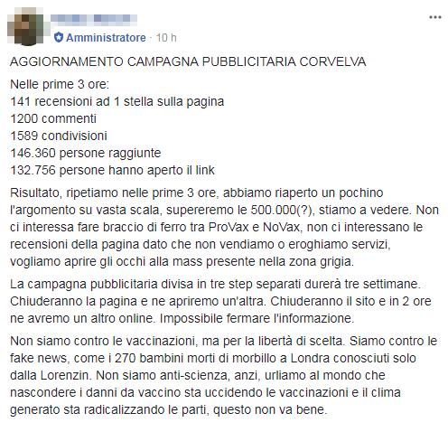corvelva rapposelli propaganda antivaccini - 4