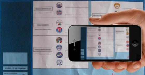 fotografa scheda elettorale