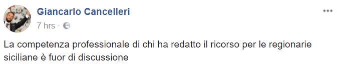 giancarlo cancelleri status