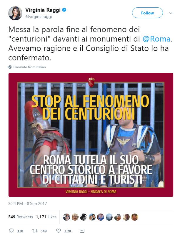 gladiatori colosseo furto turiste virginia raggi ordinanza - 2