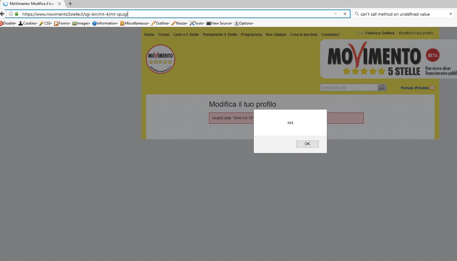 grillo sito sistema operativo m5s lfi vulnerabilità di inclusione di file - 4