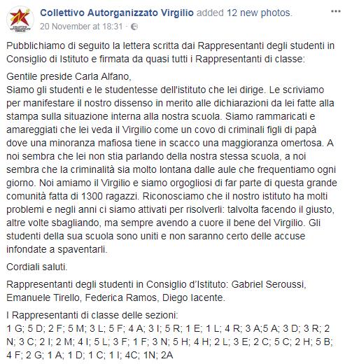 liceo virgilio roma carla alfano incontro provincia - 1