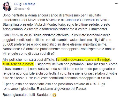luigi di maio rosatellum elezioni sicilia - 1