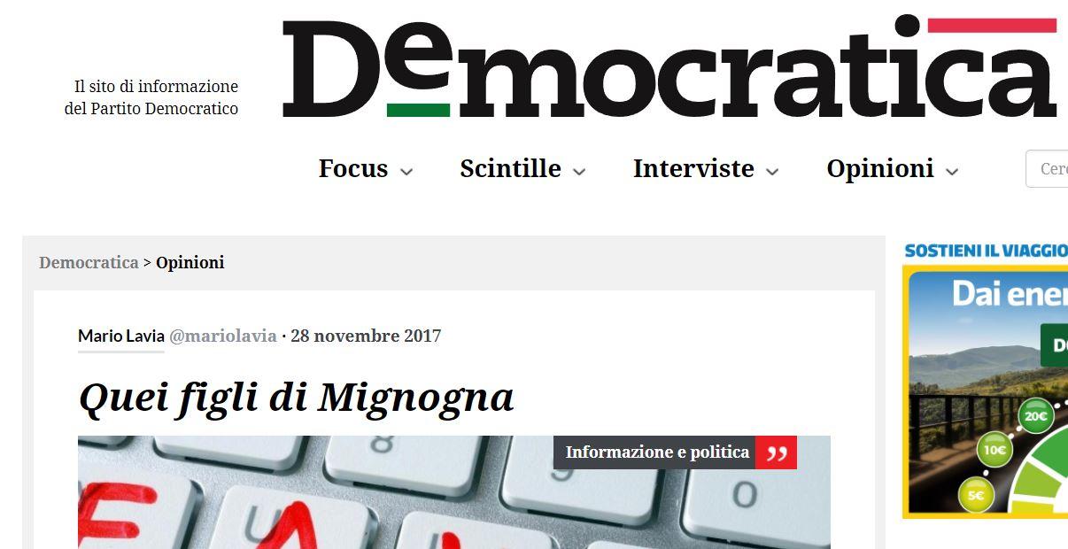 marco mignogna democratica mario lavia