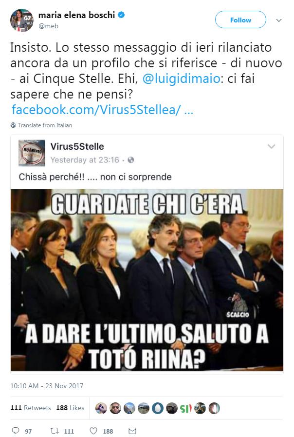maria elena boschi laura boldrini funerale riina bufala fake news - 1