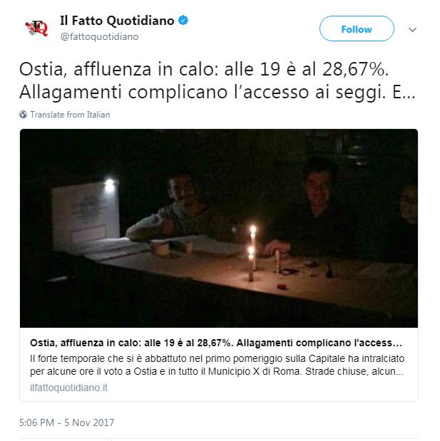 pioggia roma raggi ostia voto x municipio - 1
