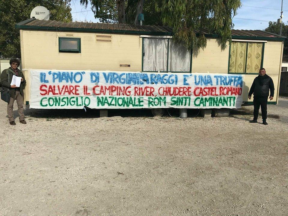 sgombero camping river roma raggi piano rom demolizione - 1