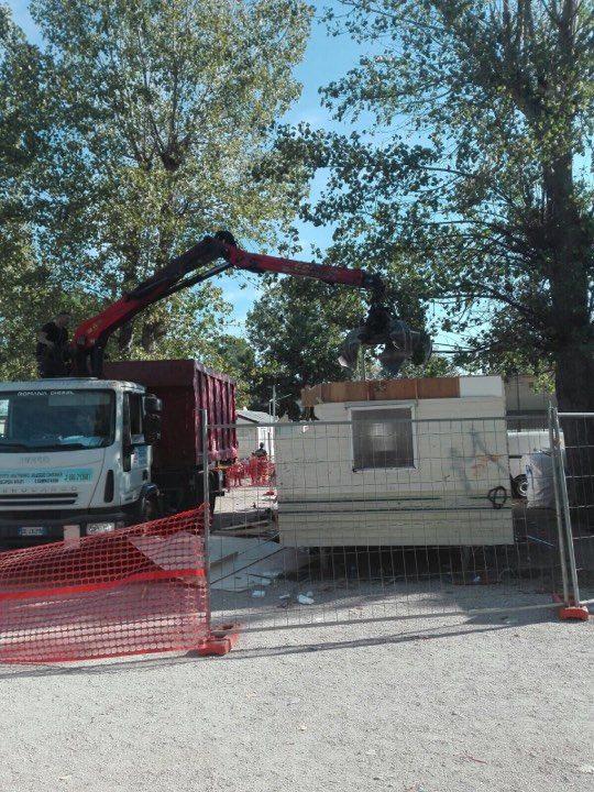 sgombero camping river roma raggi piano rom demolizione - 4