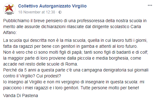 virgilio unito proteste studenti liceo roma - 2