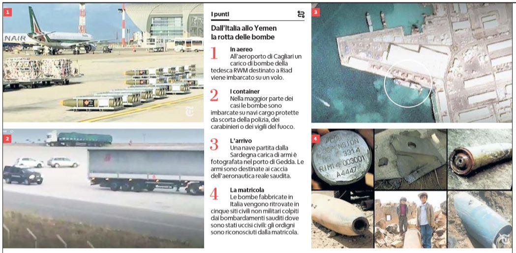 bombe italia yemen