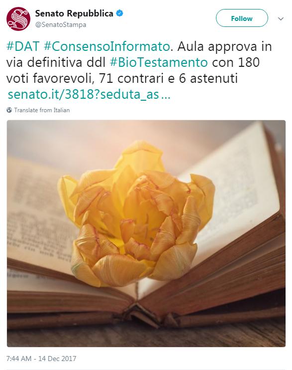 dat biotestamento senato approvazione - 1