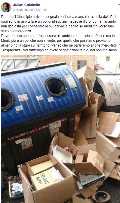 emergenza rifiuti roma dicembre 2017 - 3