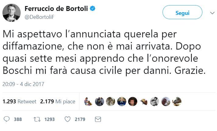 Maria Elena Boschi chiede i danni a Ferruccio De Bortoli