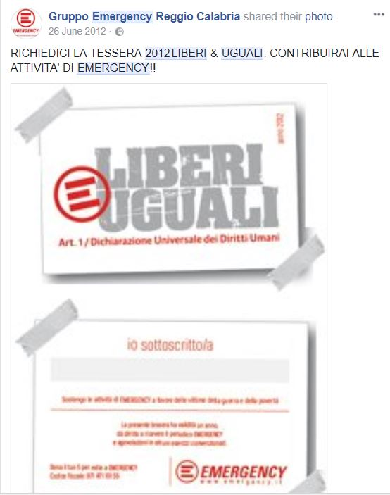 liberi e uguali emergency 2012