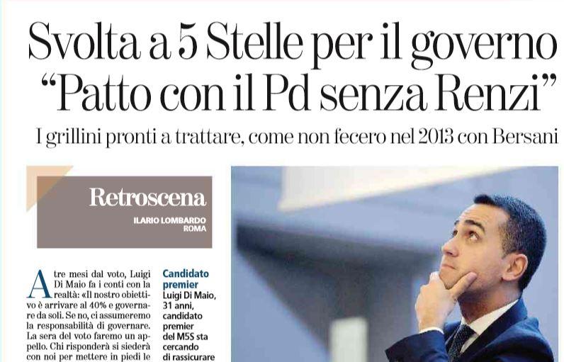 Di Maio: Visco svela pressioni di Renzi