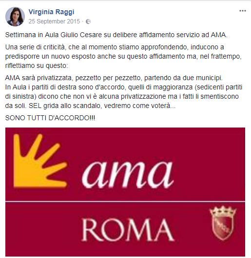 m5s roma ama rifiuti 2015 - 2