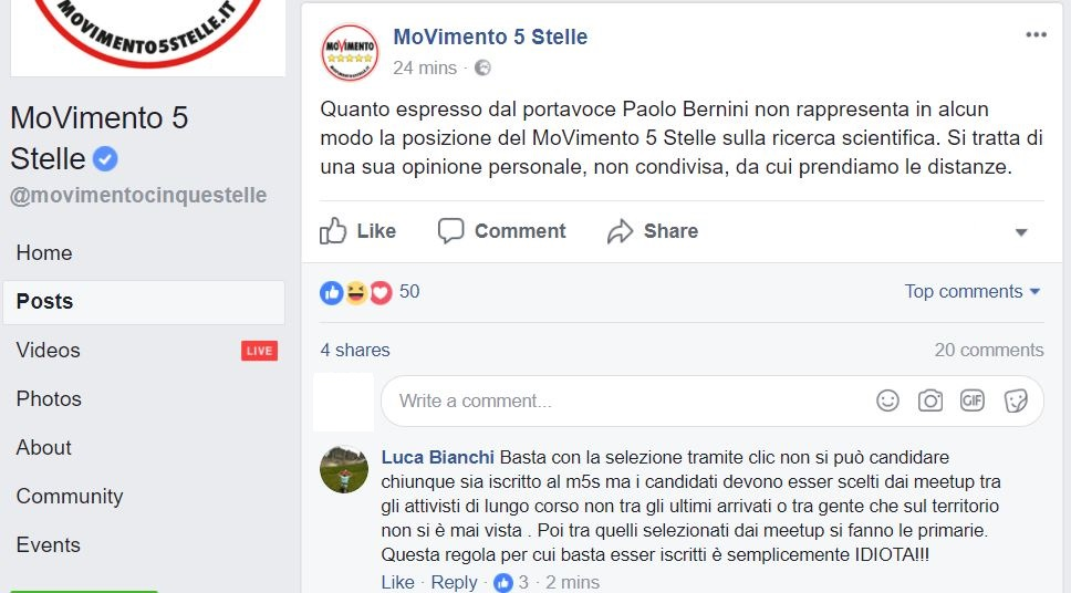 movimento 5 stelle paolo bernini