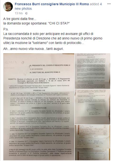 mozione sfiducia capoccioni III municipio roma m5s - 4