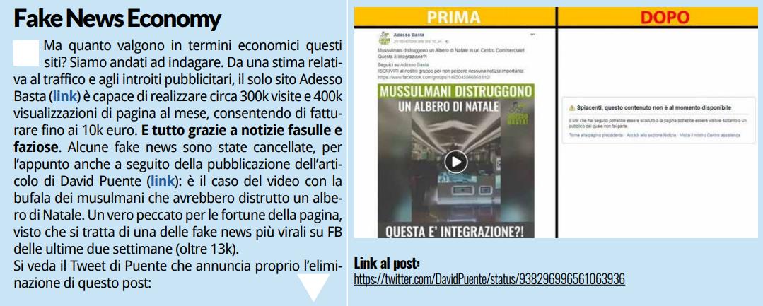 pd fake news rapporto - 2