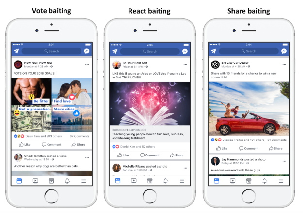 share baiting facebook condivisioni engagement bait - 1