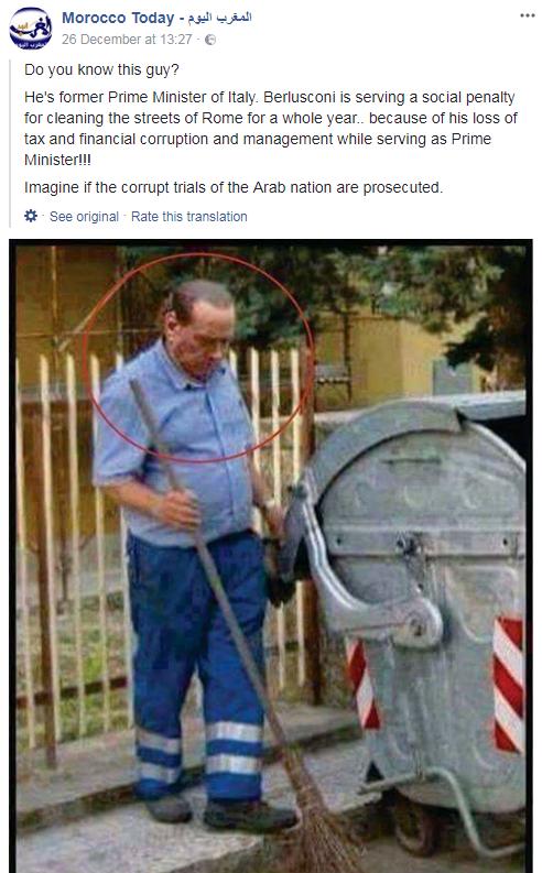 silvio berlusconi marocco condanna fake news - 1