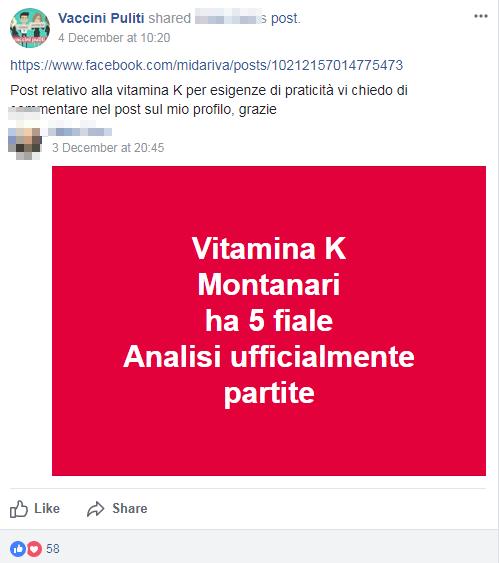 vaccini puliti vitamina k analisi montanari - 1