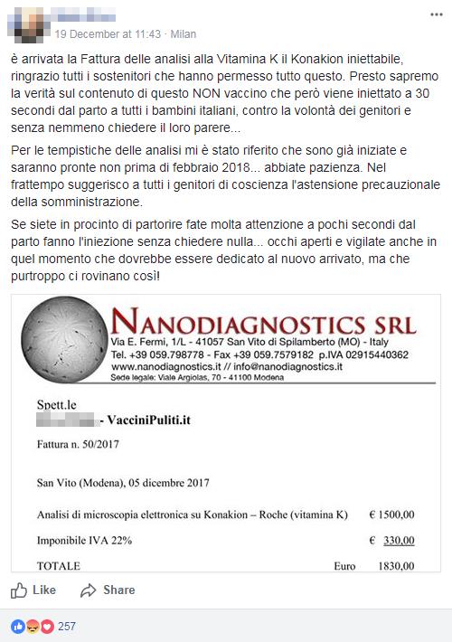 vaccini puliti vitamina k analisi montanari - 9