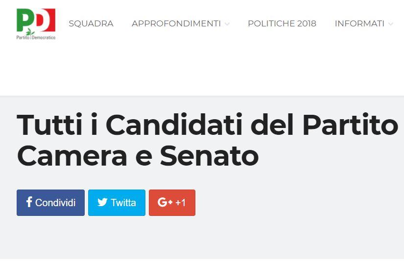 Le liste ufficiali dei candidati pd alla camera e al for Camera del senato