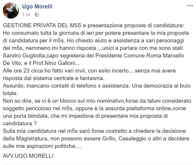 candidature parlamentarie beppe grillo
