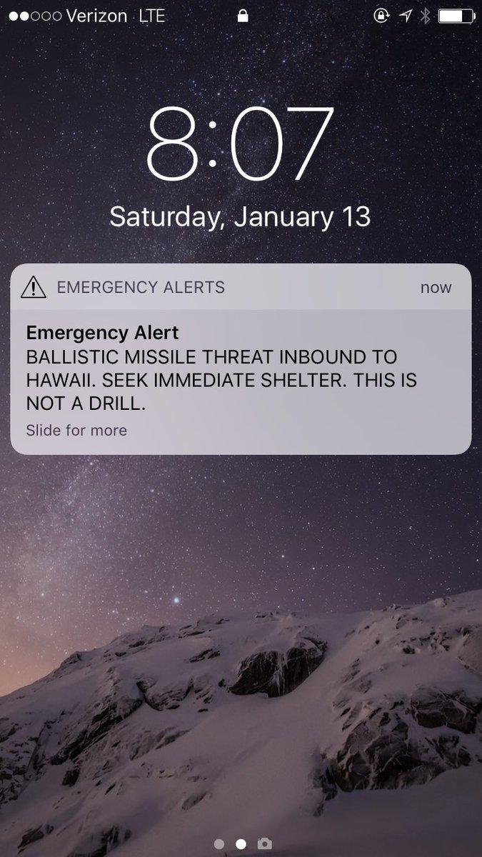 falso allarme hawaii