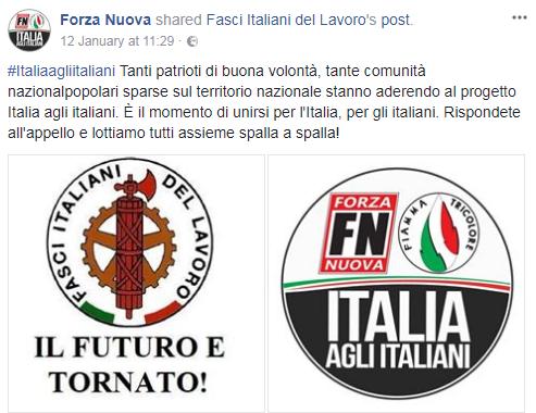 forza nuova fiamma tricolore italia agli italiani fasci italiani del lavoro - 1