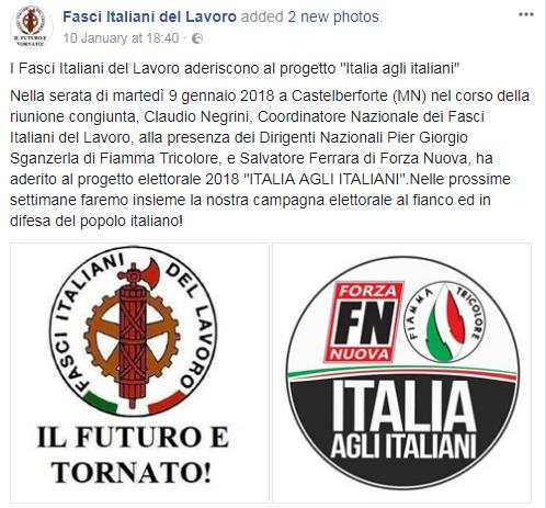 forza nuova fiamma tricolore italia agli italiani fasci italiani del lavoro - 4