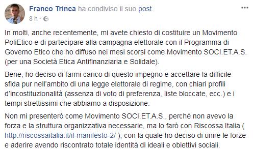 franco trinca riscossa italia free vax - 1
