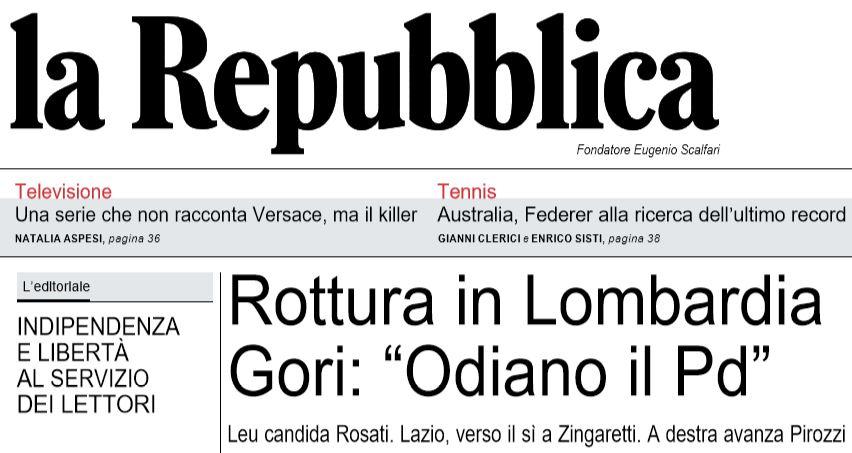 Elezioni regionali Lombardia, Liberi e Uguali in solitaria con Rosati