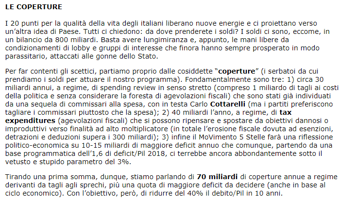 m5s coperture qualità vita italiani bufala - 1