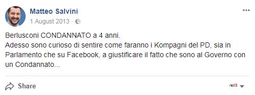 matteo salvini berlusconi condannato - 1