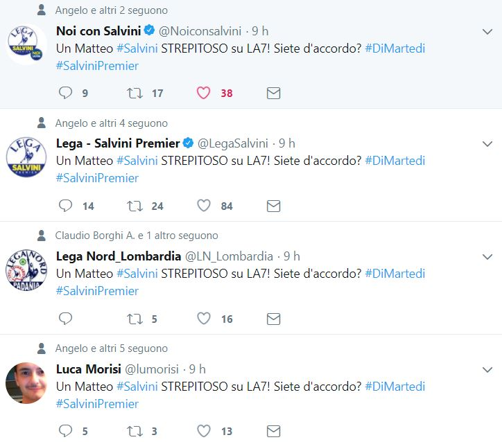 matteo salvini tweet automatici 3