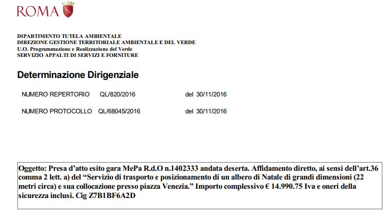 montanari spelacchio bando albero natale roma capitale bufale - 4