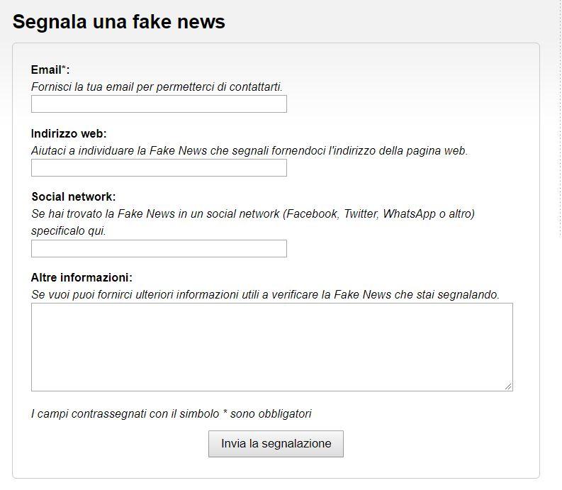 red button fake news polizia 1
