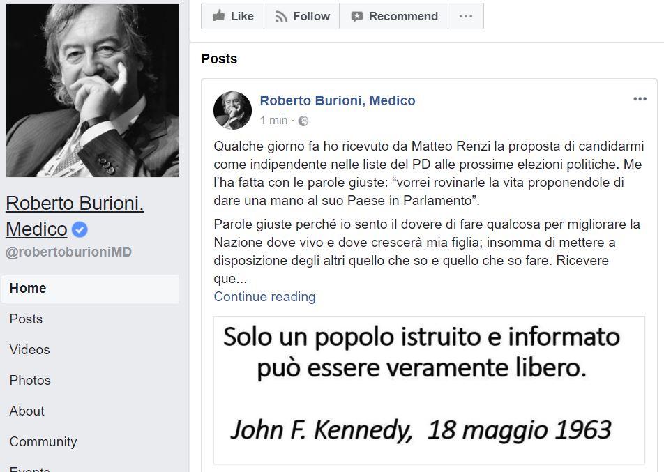 roberto burioni pd