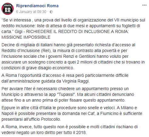 roma reddito inclusione ritardo - 1