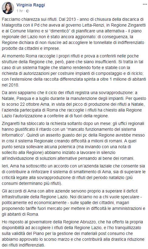 roma virginia raggi rifiuti regione lazio - 2