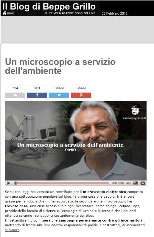 beppe grillo microscopio montanari - 2