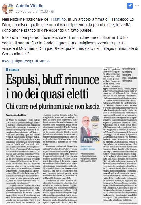 catello vitiello ritiro candidatura rinuncia elezione m5s - 1